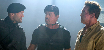 Jason Statham Arnold Schwarzenegger Sylvester Stallone The Expendables