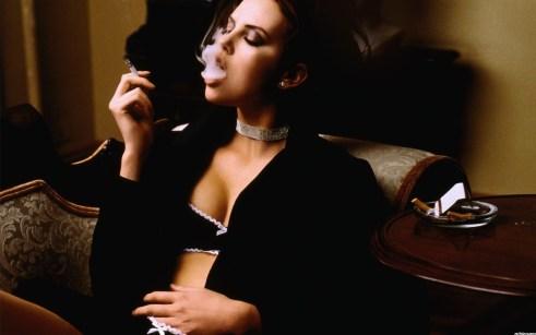Charlize Theron smoking