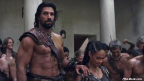 Cynthia Addai-Robinson Manu Bennett Spartacus War of the Damned Men of Honor