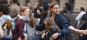 Mireille Enos Brad Pitt World War Z