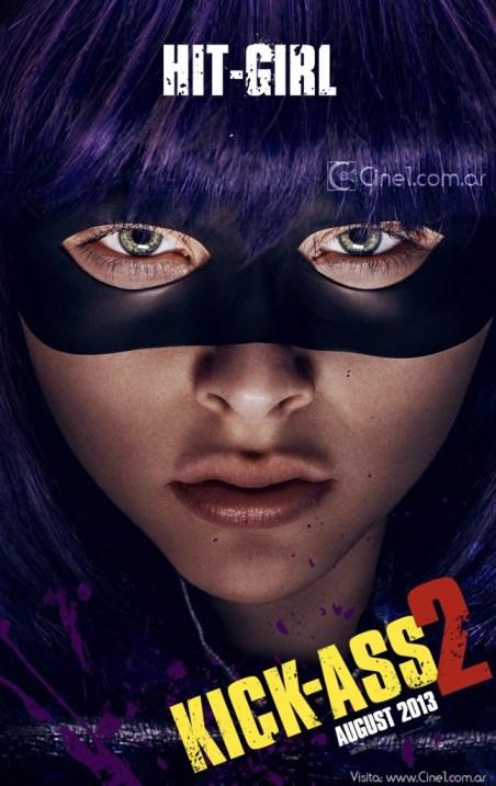 Chloe Mortez Hit-Girl Kick-Ass 2 movie poster