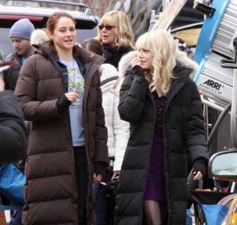 Emma Stone Shailene Woodley The Amazing Spider-Man 2