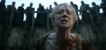 Gwendoline Christie Brienne of Tarth Bear Pit Game of Thrones