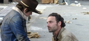 Chandler Riggs Andrew Lincoln The Walking Dead Welcome to the Tombs