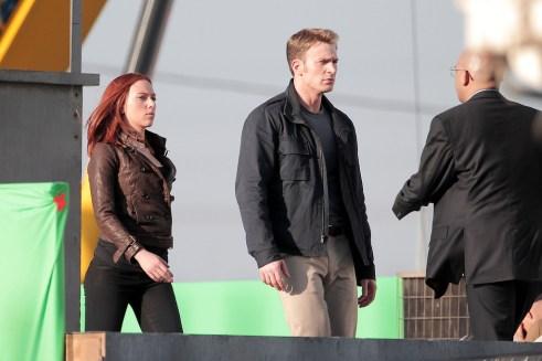 Maximiliano Hernández Chris Evans Scarlett Johansson Captain America The Winter Soldier