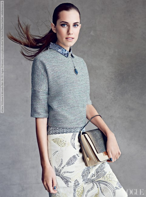 Allison Williams US Vogue February 2013