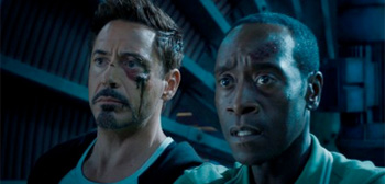 Robert Downey Jr Don Cheadle Iron Man 3