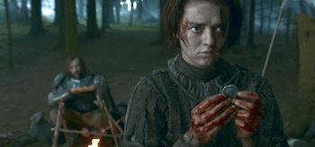 Rory McCann Maisie Williams Game of Thrones Mhysa