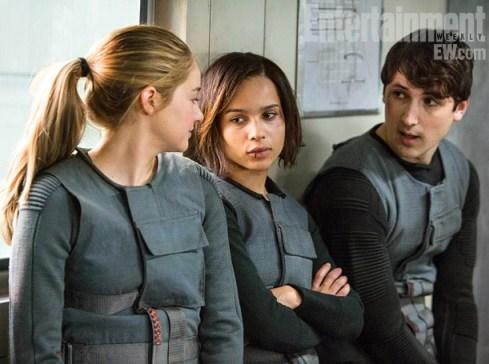 Shailene Woodley Zoe Kravitz Ben Lloyd-Hughes Divergent