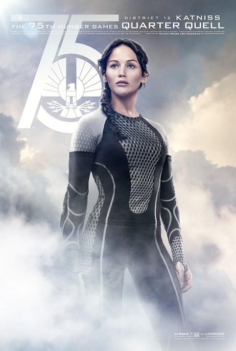 Jennifer Lawrence 75th Hunger Games Quarter Quell District 12 Katniss movie poster