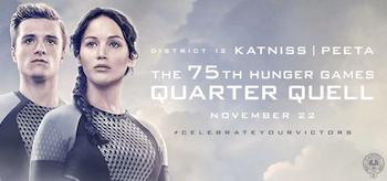 The 75th Hunger Games Quarter Quell District 12 Katniss Peeta Movie Banner