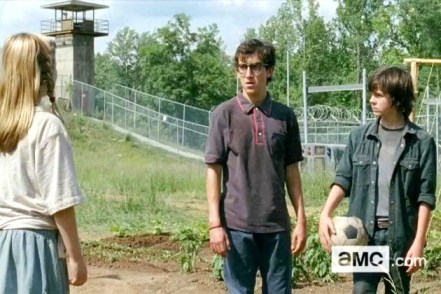 Chandler Riggs Vincent Martella The Walking Dead Season 4