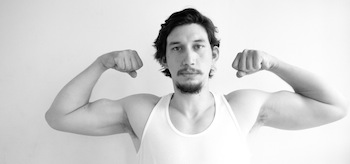 Adam Driver Flexing Biceps