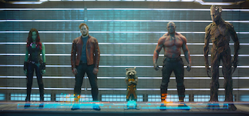 Zoe Saldana Chris Pratt Dave Bautista Guardians of the Galaxy
