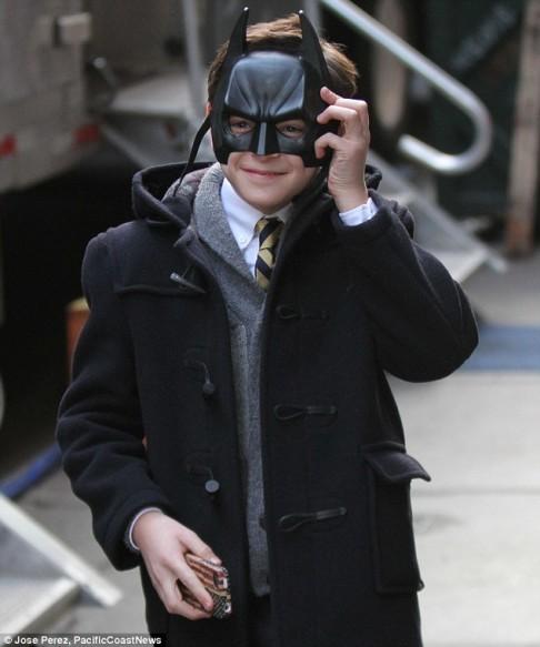 David Mazouz Gotham set