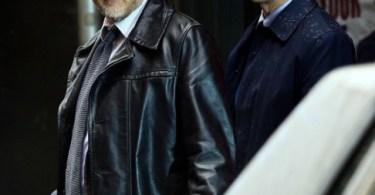 Donal Logue Ben McKenzie Gotham set