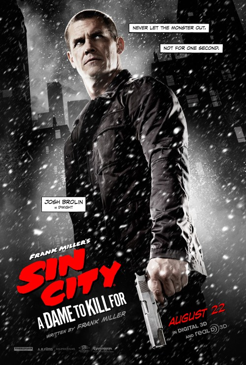 Josh Brolin Sin City A Dame to Kill For Movie Poster