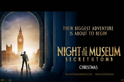 Night At the Museum Secret of the Tomb movie banner
