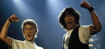 Alex Winter Keanu Reeves Bill and Teds Excellent Adventure