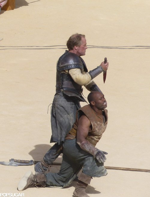Iain Glen Daznaks Pit Game of Thrones Season 5 set