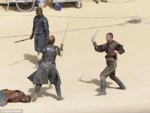 Iain Glen Daznaks Pit Game of Thrones Season 5 set