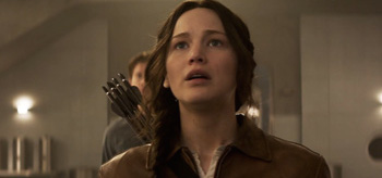Jennifer Lawrence Scared Look The Hunger Games Mockingjay Part 1