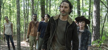 Andrew Lincoln Chandler Riggs Steven Yeun Lawrence Gilliard The Walking Dead No Sanctuary