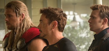 Chris Hemsworth Chris Evans Robert Downey Jr Avengers Age Of Ultron