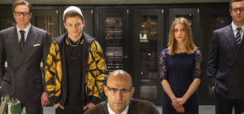 Colin Firth Taron Egerton Mark Strong Sophie Cookson Kingsman The Secret Service