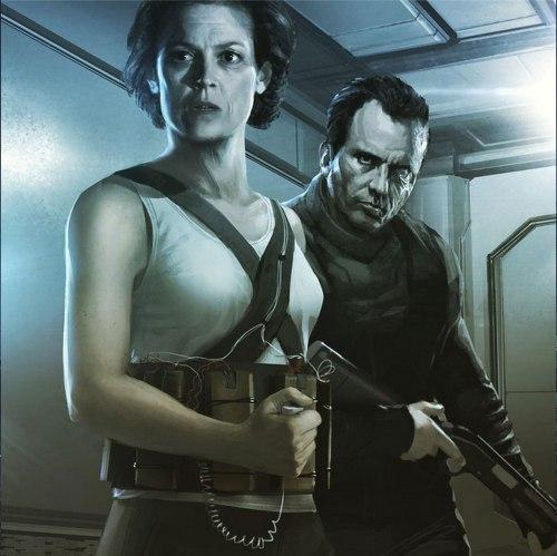 Ellen Ripley Dwayne Hicks Neil Blomkamp Alien Concept Art