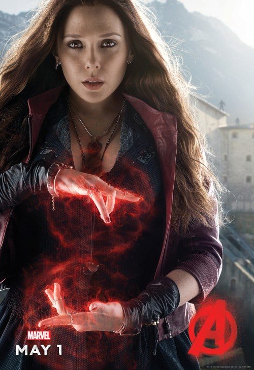 Elizabeth Olsen Scarlett Witch Avengers Age of Ultron Movie Poster
