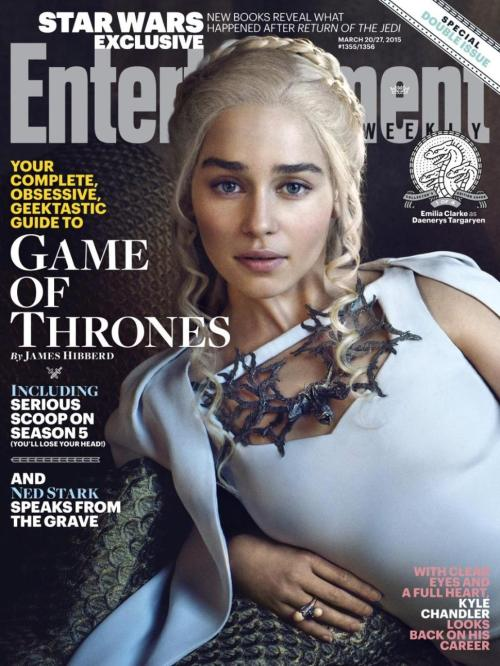 Emilia Clarke Game of Thrones Season 5 Entertainment Weekly Cover