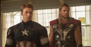 Chris Evans Chris Hemsworth Avengers Age of Ultron