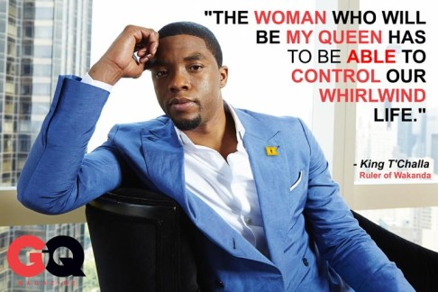 T'Challa GQ Magazine article by Darian Robbins