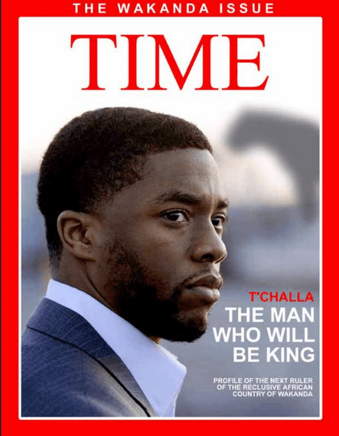 T'Challa Time Magazine cover by Darian Robbins