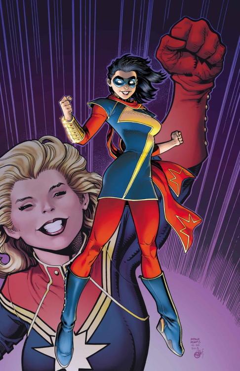 Ms. Marvels Kamala Khan and Carol Danvers