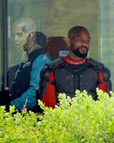 Will Smith Jay Hernandez Suicide Squad candid