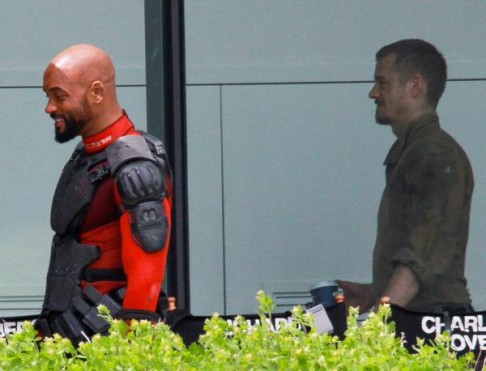 Will Smith Joel Kinnaman Suicide Squad BTS