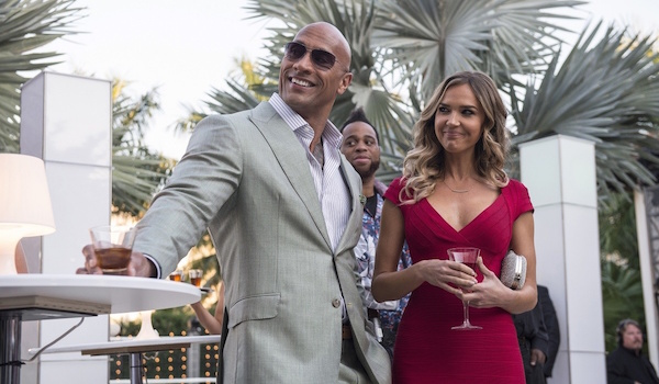 Dwayne Johnson Arielle Kebbel Ballers Move the Chains