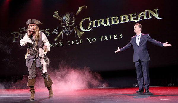 Jack Sparrow looking confused at the D23 Expo