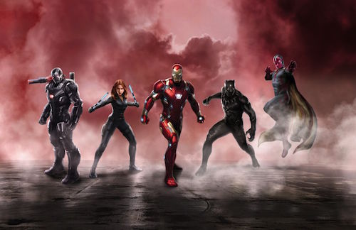 Captain America Civil War Iron Man Team Concept Art