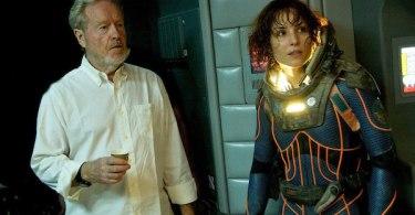Ridley Scott Noomi Rapace Prometheus
