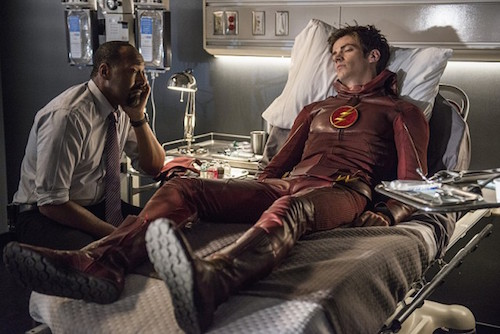 Jesse L. Martin Grant Gustin The Flash The Man Who Saved Central City