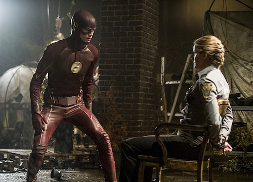 Grant Gustin Shantel VanSanten The Flash Flash of Two Worlds