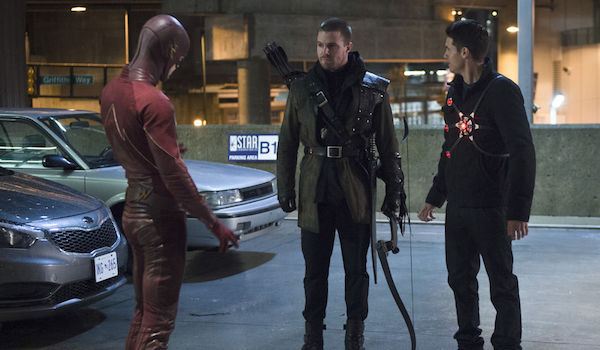 Grant Gustin Stephen Amell Eddie Amell The Flash Rogue Air