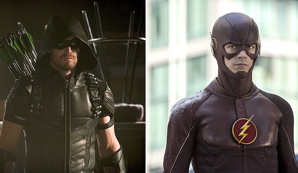Grant Gustin The Flash Stephen Amell Arrow