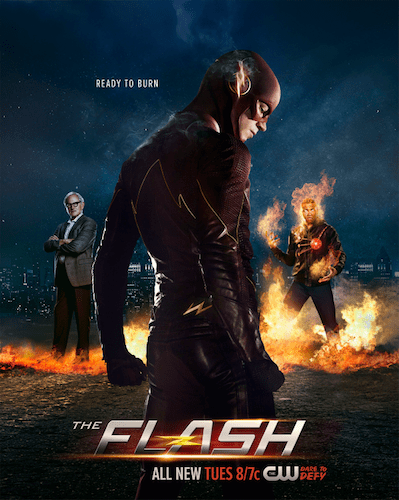 The Flash Poster Victor Garber Grant Gustin Franz Drameh
