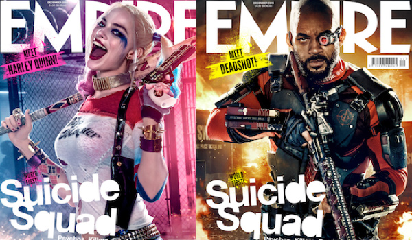 Will Smith Margot Robbie Suicide Squad Empire Covers