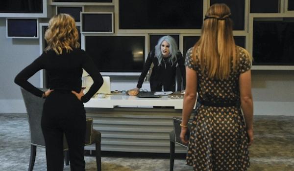 Calista Flockhart Brit Morgan Melissa Benoiist Supergirl Livewire