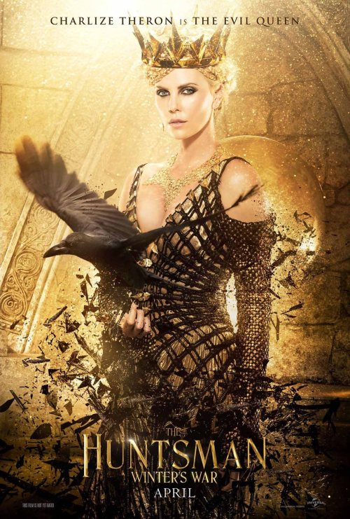 Charlize Theron The Huntsman Winters War movie poster